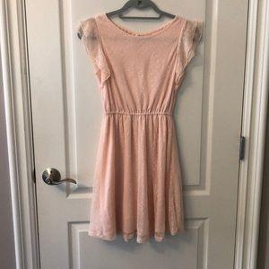 Maison Jules pink lace dress